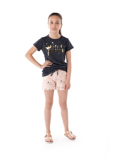 Pamuk & Pamuk Little Princess Şortlu Genç Kız Şortlu Pijama Takım Renkli